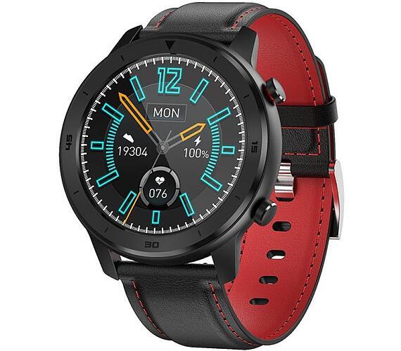 "IMMAX chytré hodinky SW15/ 1.3"" IPS LCD/ HS6620/ BT/ IP68/ Android 4.4 / iOS 8.4 a vyšší/ česká app/ černé (09027)"