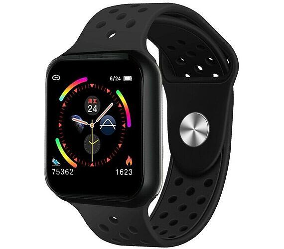 """IMMAX chytré hodinky SW13/ 1.3"""" dotykový TFT LCD/ BT/ IP67/ komp. s Android 2.3 / iOS 4.0 a vyšší/ CZ app/ černé (09029)"""