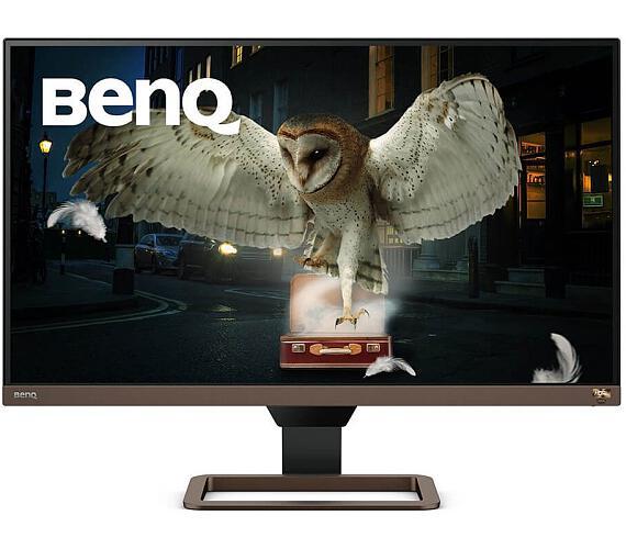 """BENQ 27"""" LED EW2780U/ IPS panel/ 3840x2160/ 1300:1/ 5ms/ 2x HDMI/ DP/ USB-C/ repro/ HDR/ hnědý - černý (9H.LJ7LA.TBE)"""