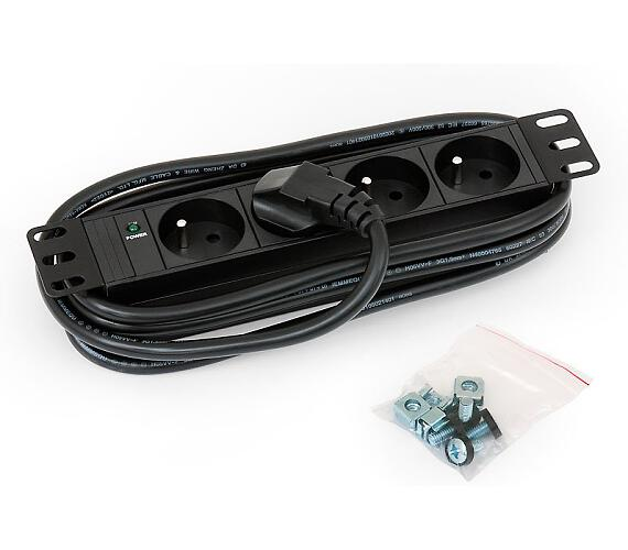 Triton 10',4xCZ zásuvka,kontrolka,3x1.5mm - 2m kabel CZ-DE