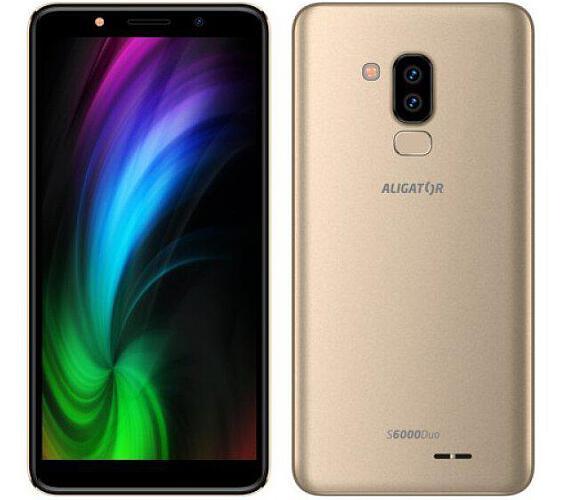 Mobilní telefon Aligator S6000 Duo 16GB zlatý