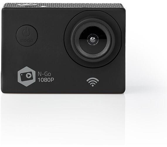 Akční Kamera / 1080p@30fps / 12 MPixel / Vodotěsné do: 30.0 m / 90 min / Wi-Fi / Aplikace ke stažení pro: Android™ / IOS / Včetně držáků / Černá