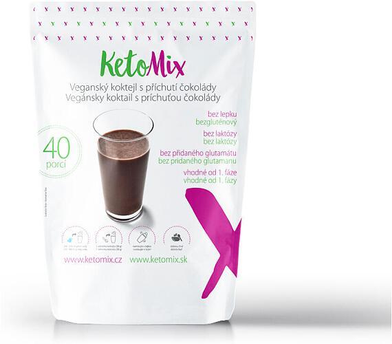 KetoMix Bezlaktózový (veganský) koktejl s příchutí čokolády (40 porcí) 1200 g + DOPRAVA ZDARMA