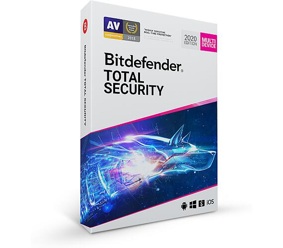 Bitdefender Total Security 2020 10 zařízení na 1 rok + dárek powerbanka Xiaomi (TS01ZZCSN1210LEN_BOX)