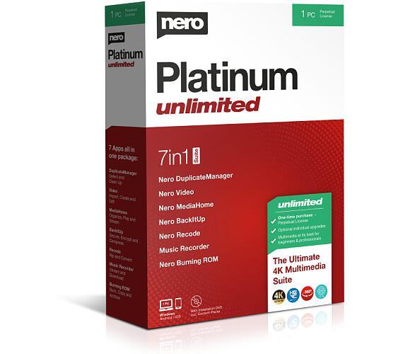 Nero Platinum Unlimited - CZ - trvalá licence - 7 programů v 1 - elektronicky (EMEA-12200010/1447) + DOPRAVA ZDARMA