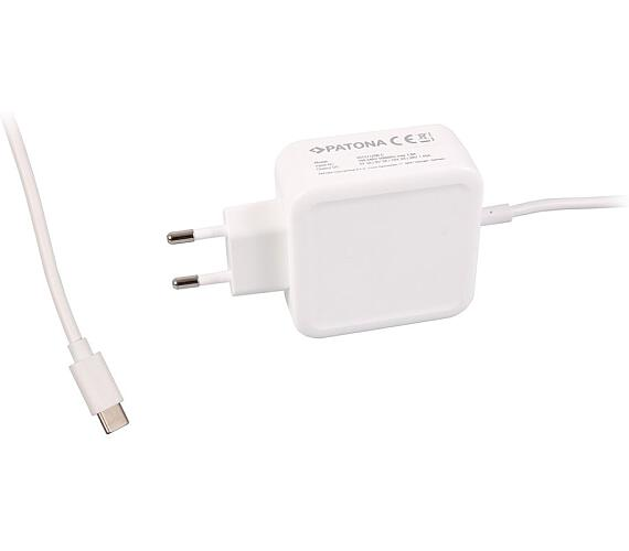 PATONA napájecí adaptér pro tablet PC/Smartphone/ 5V-20V 29W/ konektor USB-C/ bílý/ Power delivery (PT2572)