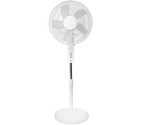 Ventilátor / Wi-Fi / 400 mm / Nastavitelná výška / Otáčí se automaticky / 3-Rychlostní / Časovač / Android™ / IOS / Bílá + DOPRAVA ZDARMA