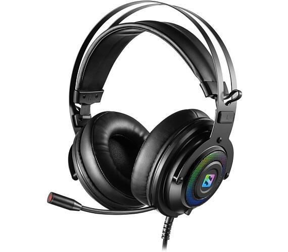 SANDBERG herní sluchátka Dizruptor Headset USB 7.1 s mikrofonem