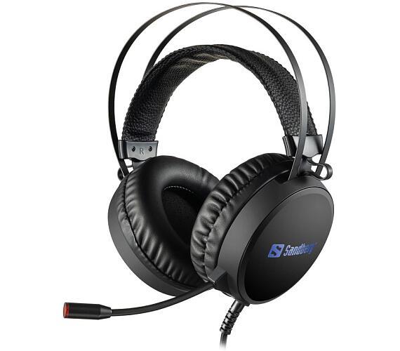 SANDBERG herní sluchátka Tyrant Headset USB 7.1 s mikrofonem