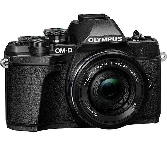Olympus E-M10 Mark III 1442 kit black/black + DOPRAVA ZDARMA