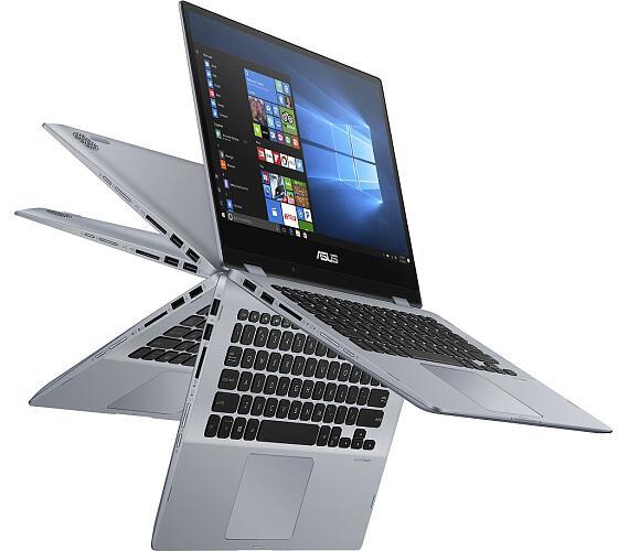 """Asus TP412FA-EC309T Pentium 5405U/4GB/128GB SSD/14"""" FHD IPS/Win10/stříbrný"""