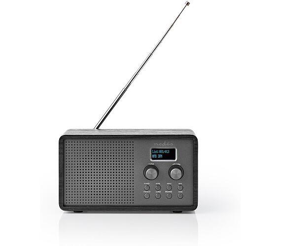 "DAB+ Rádio | Stolní Provedení | DAB+ / FM | 1.3 "" | Černo-bílý displej | Napájení z baterie | Digitální | 4.5 W | Budík | Černá"