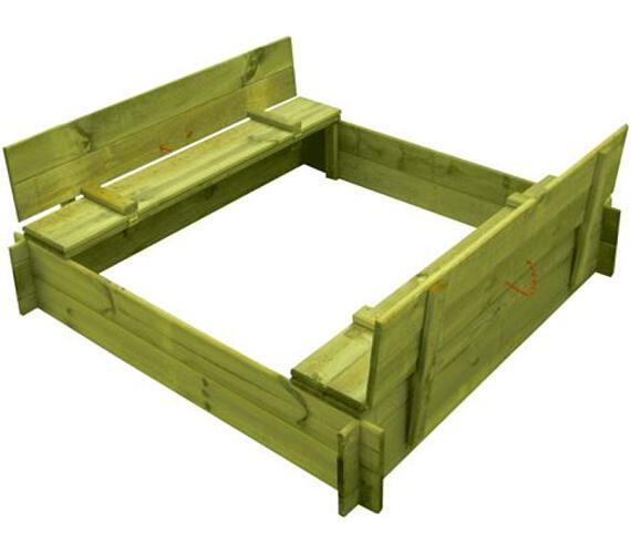 Marimex pískoviště dřevěné čtyřhranné s krytem/lavičkou (11640357)
