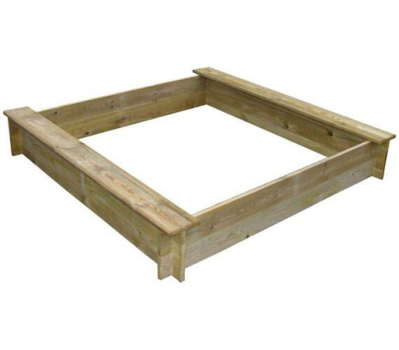Marimex pískoviště dřevěné čtyřhranné se dvěma sedátky (11640356)