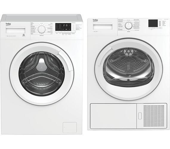 BEKO WUE 7612 CSX0 + Sušička prádla BEKO HDF7412CSRX SLIM + DOPRAVA ZDARMA