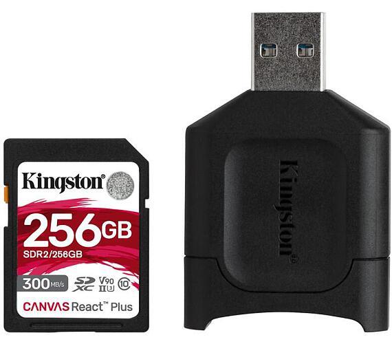 Kingston 256GB SDHC Canvas React Plus SD Kit karta + čtečka (MLPR2/256GB)