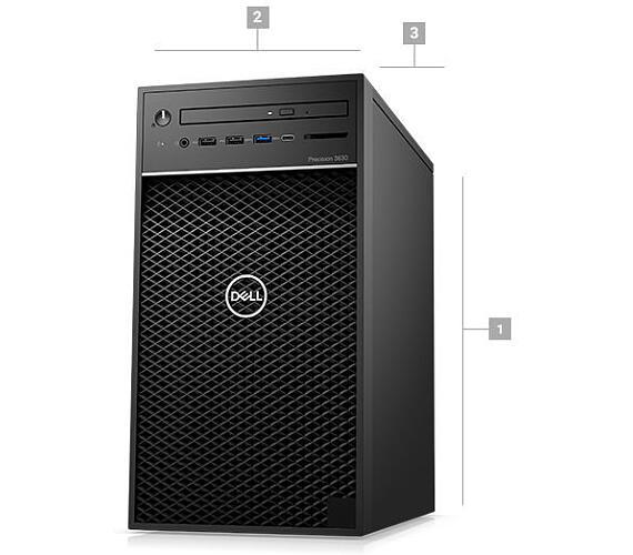 Dell Precision T3630/i7-9700K/16GB/256GB SSD+1TB/5GB Quadro P2200/DVDRW/klávesnice+myš/Win 10 Pro (3630-001)