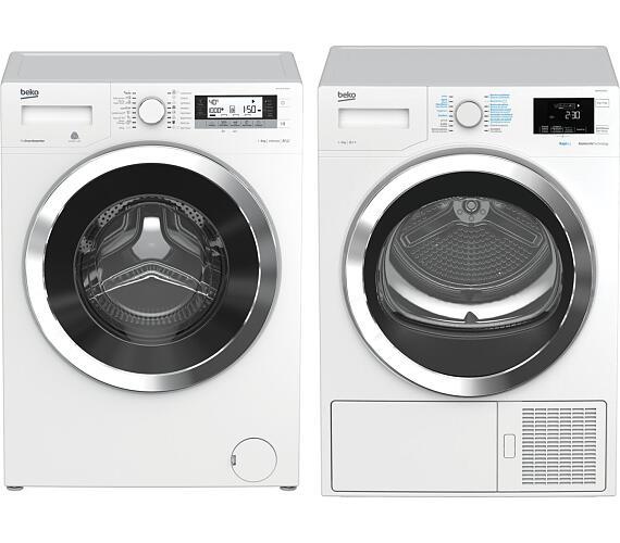 BEKO WTV 8735 XC0ST + Sušička prádla BEKO HDR 9434 CSRX + DOPRAVA ZDARMA