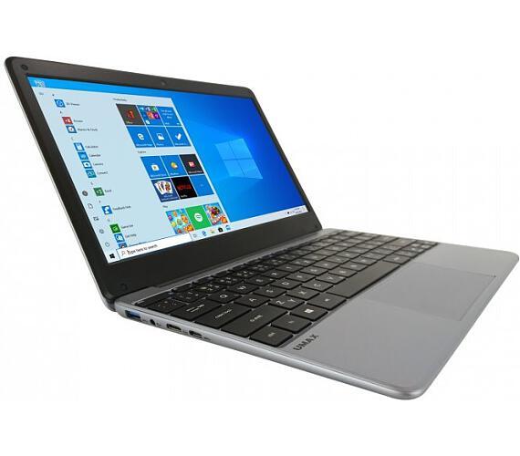 """Umax notebook VisionBook 12Wa/ 11,6"""" IPS/ 1920x1080/ N3350/ 4GB/ 64GB Flash/ mini HDMI/ 2x USB/ USB-C/ W10 Pro/ šedý (UMM230123)"""