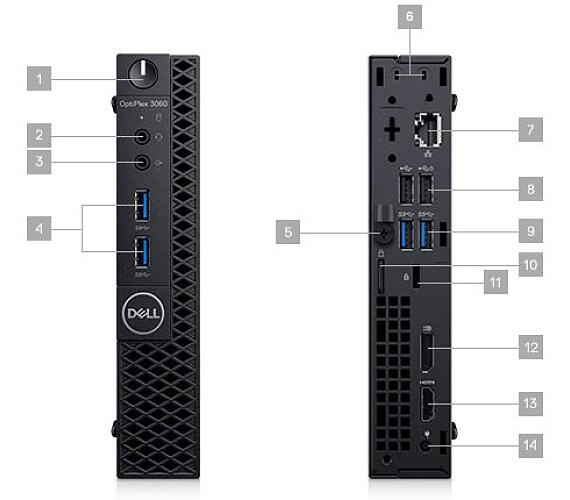 Dell OptiPlex MFF 3070/Core i5-9500T/8GB/512GB/Intel UHD 630/Wifi/Win 10 Pro 64bit/3Yr NBD (3070-512SP)