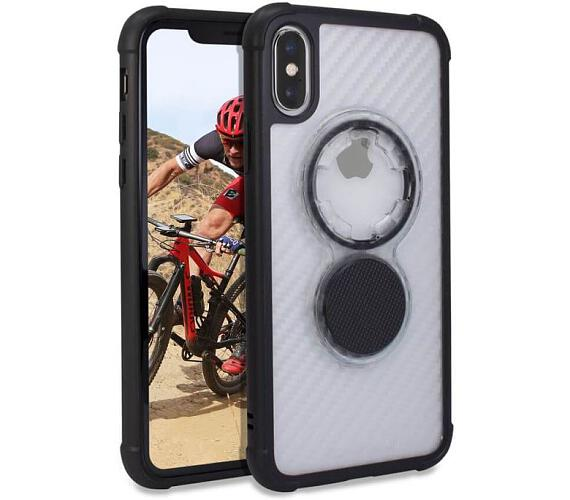 Rokform Kryt na mobil Crystal - Carbon Clear pro iPhone XS/X (304820P)