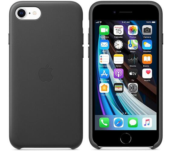 Apple kožený kryt iPhone SE (2020) černý