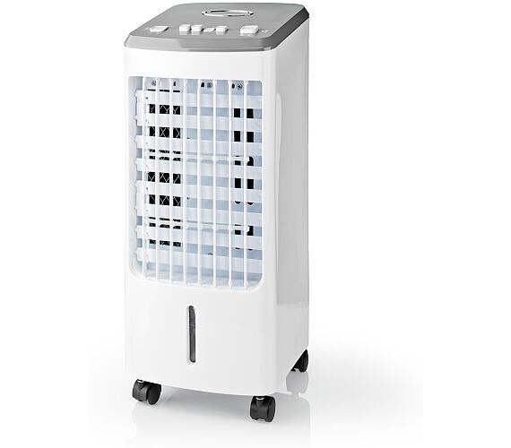 NEDIS ochlazovač vzduchu/ výkon 80 W/ nádržka 3 l/ cirkulace 270 m3/h/ 3 rychlosti/ funkce Air Swing/ bílý (COOL113CWT) + DOPRAVA ZDARMA