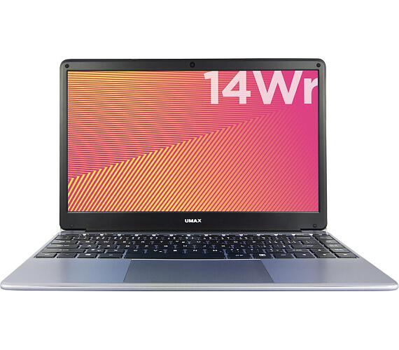 """Umax notebook VisionBook 14Wr/ 14,1"""" IPS/ 1920x1080/ N4020/ 4GB/ 64GB Flash/ mini HDMI/ 2x USB/ USB-C/ W10 Pro/ šedý (UMM230141)"""