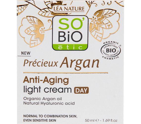 Krém denní lehký pro normální až smíšenou pleť 50 ml BIO Anti-age Precieux Argan SO'BiO étic
