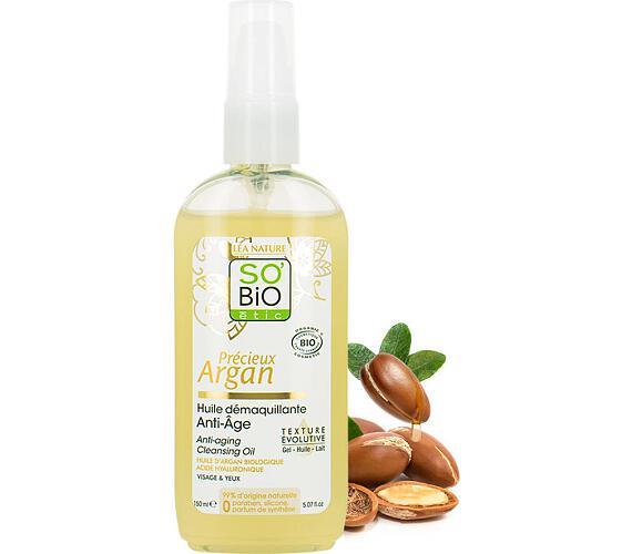 Olej odličovací anti-age Precieux argan BIO SO'BiO étic 150 ml