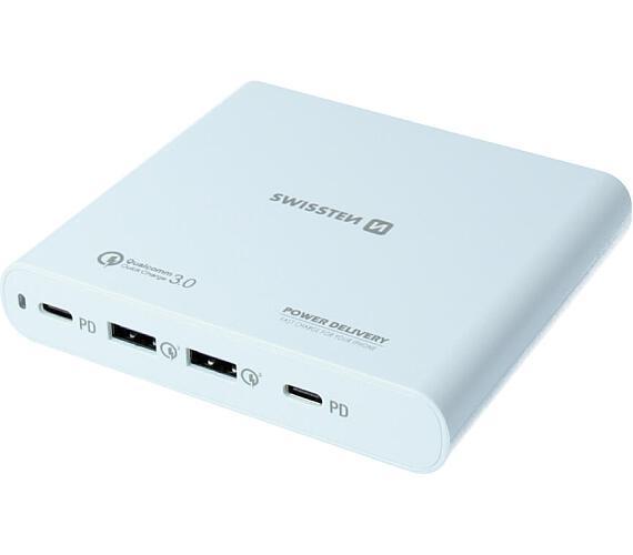 Swissten síťový adaptér 87W PD 3.0/QC4 PPS + DOPRAVA ZDARMA