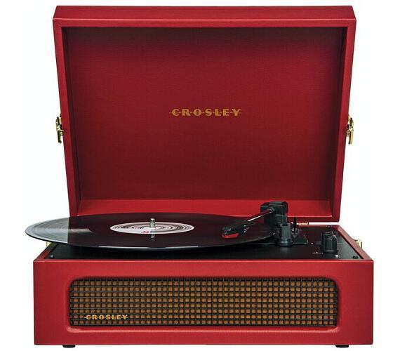 Crosley Voyager burgundy red + DOPRAVA ZDARMA