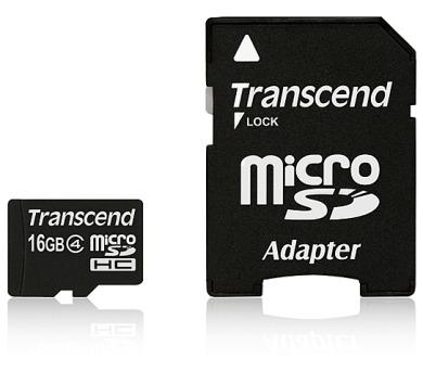 Transcend MicroSDHC 16GB Class4 + adapter