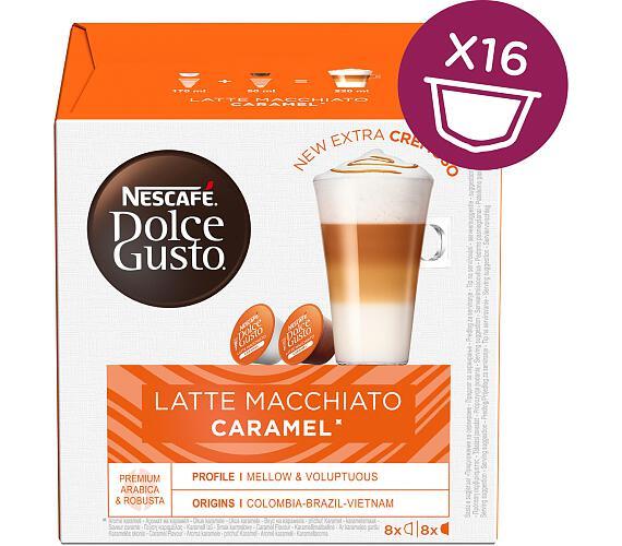 NESCAFÉ Latte macchiato caramel 16 ks k Dolce Gusto + kupte 3 balení a vyhrajte kávovar Infinissima
