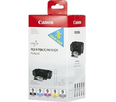 Canon PGI-9PBk/C/M/Y/GY originální - černá/červená/modrá/žlutá + DOPRAVA ZDARMA