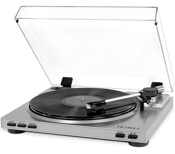 Victrola VPRO-3100 gramofon s USB stříbrný