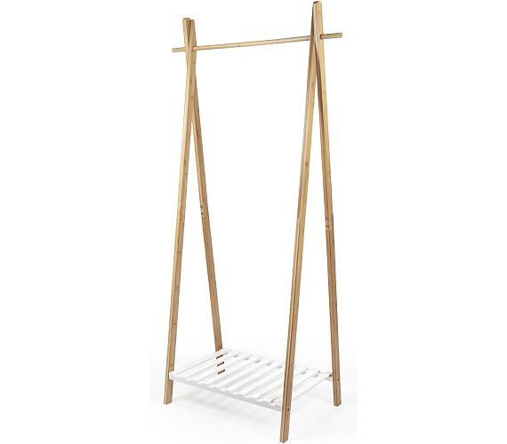 Compactor Bamboo Stender s bílou policí na boty + DOPRAVA ZDARMA