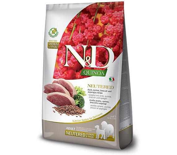 N&D Quinoa DOG Neutered Duck&Broccoli&Asp. Mini 2,5kg