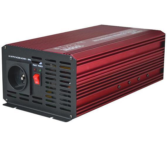 CARSPA P1000 12V/230V 1000W čistá sinusovka USB + DOPRAVA ZDARMA