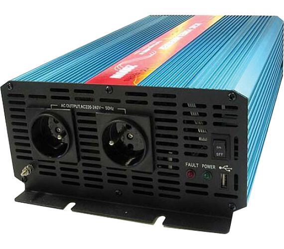 CARSPA P2000 12V/230V 2000W čistá sinusovka + DOPRAVA ZDARMA