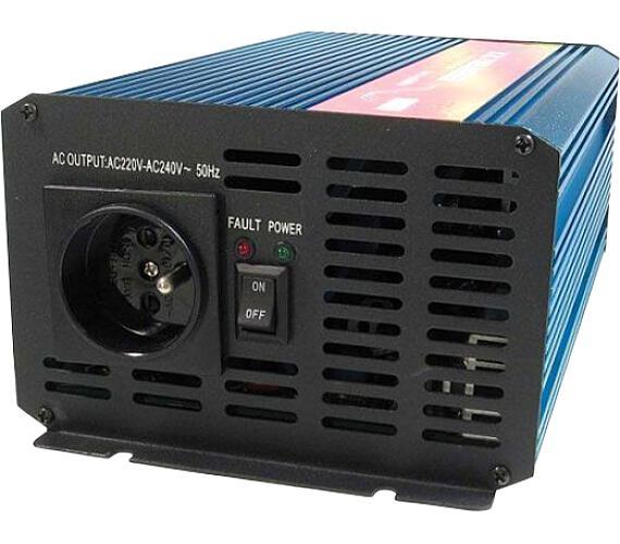 CARSPA P1000 24V/230V 1000W čistá sinusovka + DOPRAVA ZDARMA