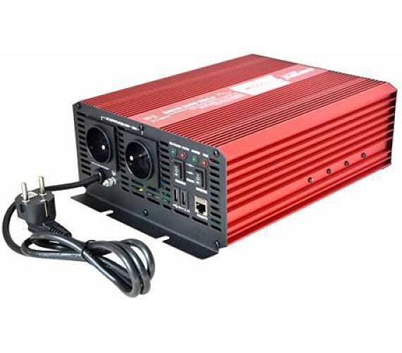 CARSPA CPS1000 12V/230V 1000W čistá sinusovka+ UPS+ nabíječka