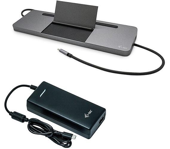 I-TEC USB-C Metal Low Profile Triple Display Docking Station + Power Delivery 85 W Charger 112W (bundle) (C31FLATPRO112W)