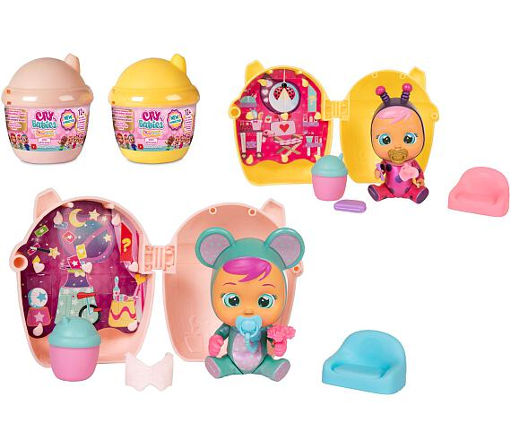CRY BABIES Magické slzy plast 3.série panenka s domečkem a doplňky 2 druhy 12ks v boxu + DOPRAVA ZDARMA
