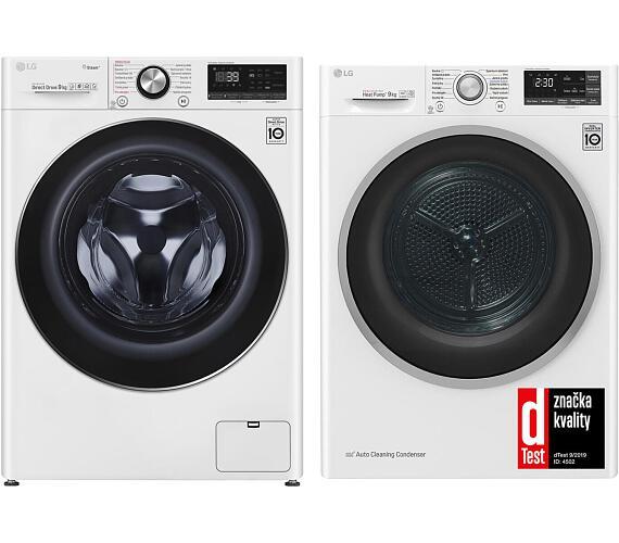 LG F 4WV909P2 + Sušička prádla LG RC 91U2AV3W + DOPRAVA ZDARMA