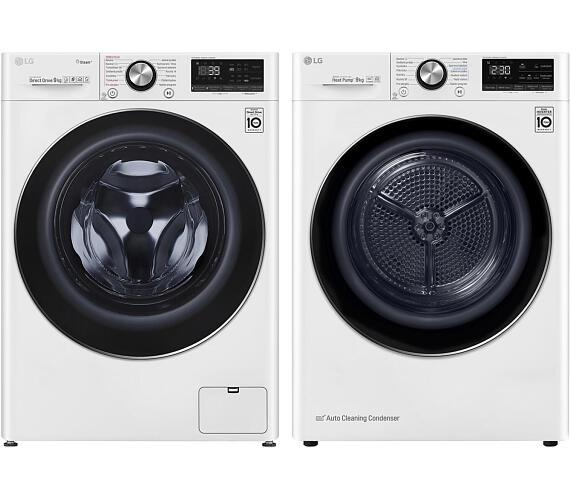LG F 4WV909P2 + Sušička prádla LG RC 91V9AV2W + DOPRAVA A MONTÁŽ ZDARMA