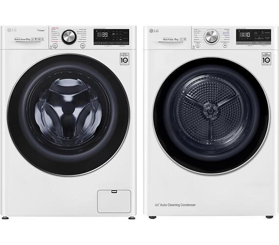 LG F 4WV909P2 + Sušička prádla LG RC 91V9AV3Q + DOPRAVA ZDARMA