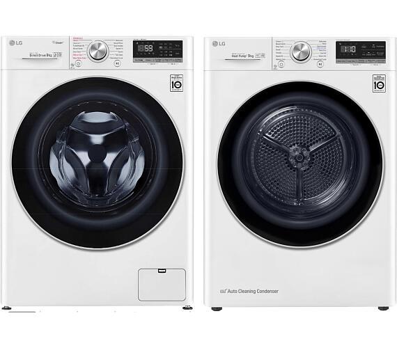 LG F 4WN709S1 + Sušička prádla LG RC 91V9AV3Q + DOPRAVA ZDARMA