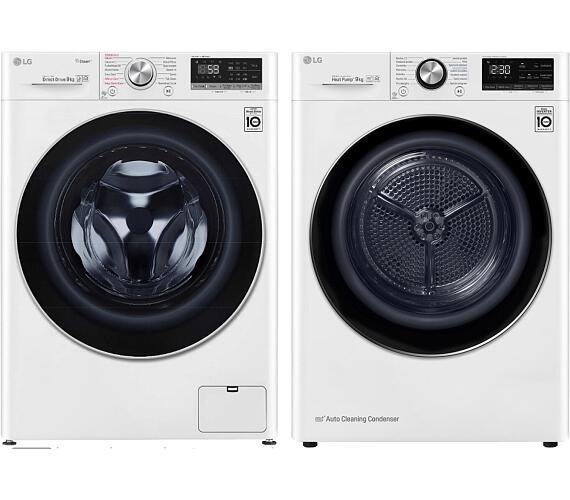 LG F 4WN709S1 + Sušička prádla LG RC 91V9AV2W + DOPRAVA ZDARMA