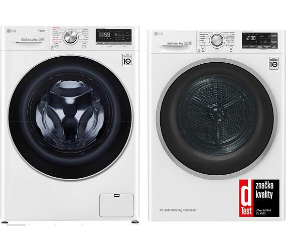 LG F 4WN709S1 + Sušička prádla LG RC 91U2AV3W + DOPRAVA ZDARMA